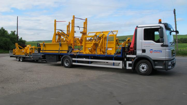 Murray Machinery lorry out on deliveries