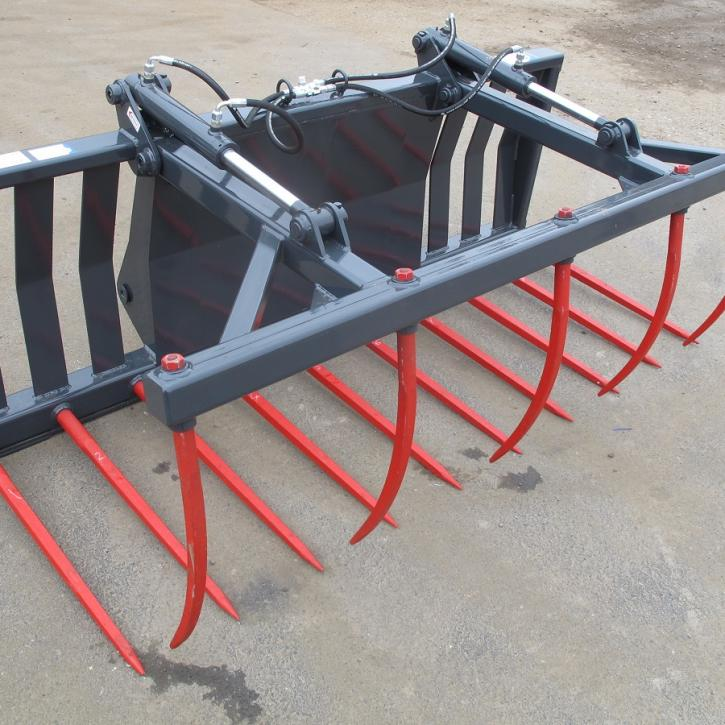 7' 6 Muck Fork with Top Grab and Terex 860-890 fittings