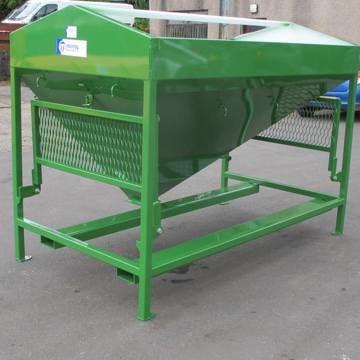 Additive hopper for a 40T bruiser with fork pockets and fold away platforms