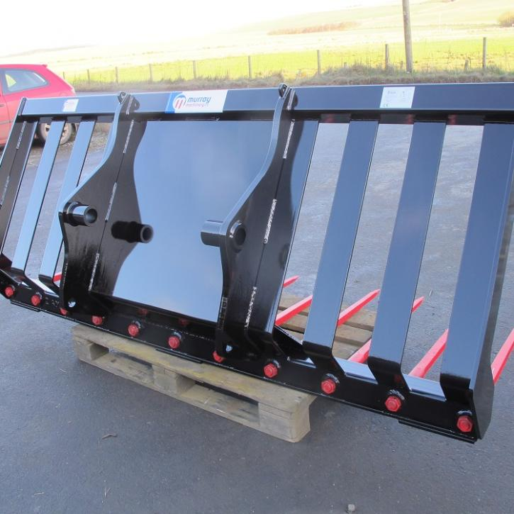 7' 6 Muck Fork c/w 11 tines and middle filled in - Manitou