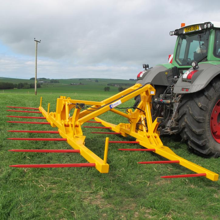 Octa-Quad Bale Handling System - rear section for carrying 8 bales at a time. Showing non-folding tines version.