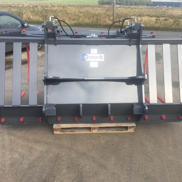 8' Contractor Model Muck Fork and Top Grab c/w Pin and Cone Brackets