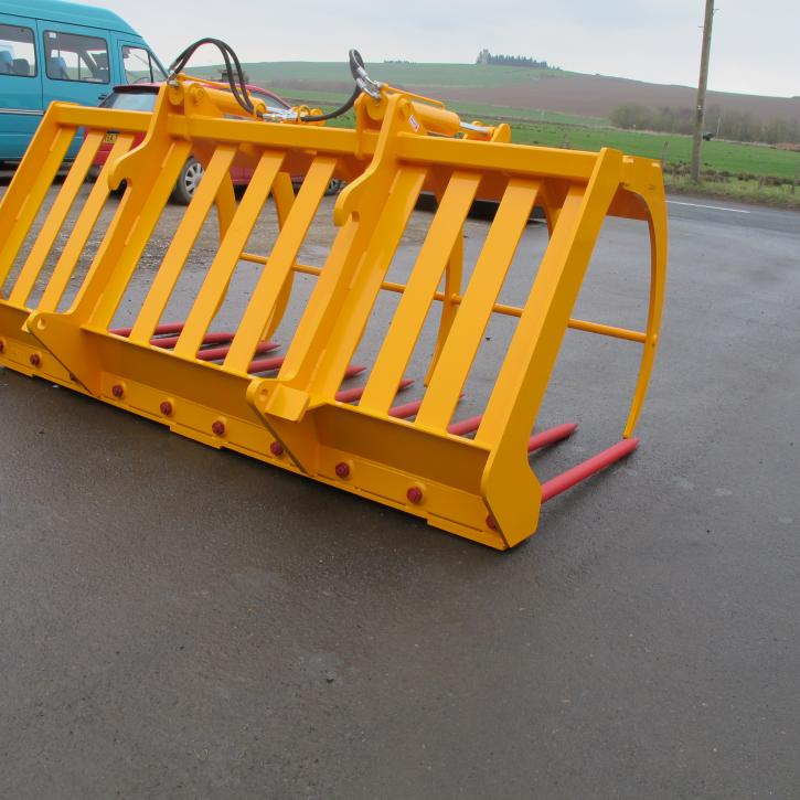 8' Heavy Duty Muck Fork and Top Grab with HD SHW Tines