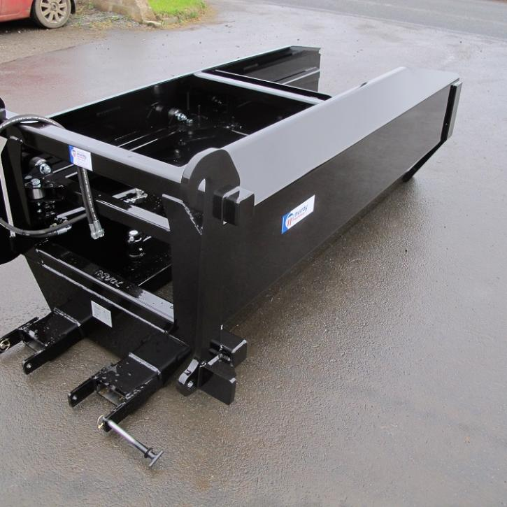 Ejector Bucket made for Glenfarrow GF210 - JCB Q-Fit Brackets and Fork Pockets